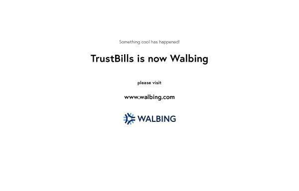 Vorschau von www.trustbills.com, TrustBills Marketplace GmbH