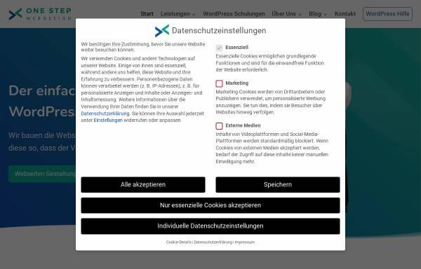 Vorschau von onestep-webdesign.de, One Step Webdesign