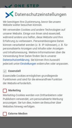 Vorschau der mobilen Webseite onestep-webdesign.de, One Step Webdesign