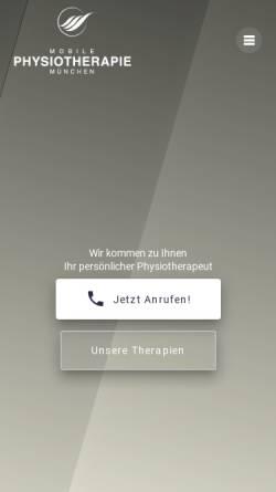 Vorschau der mobilen Webseite mobilephysiotherapiemuenchen.de, Mobile Physiotherapie München