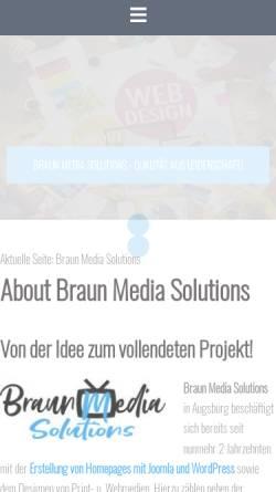 Vorschau der mobilen Webseite www.Braun-MS.de, Braun Media Solutions