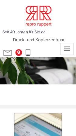 Vorschau der mobilen Webseite www.repro-ruppert.com, Repro Ruppert