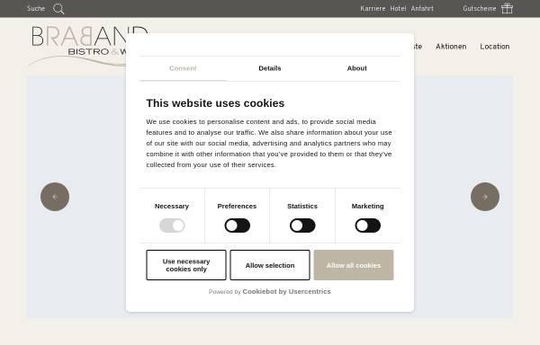 Vorschau von www.braband-bistro.de, BRABAND Bistro & Wein