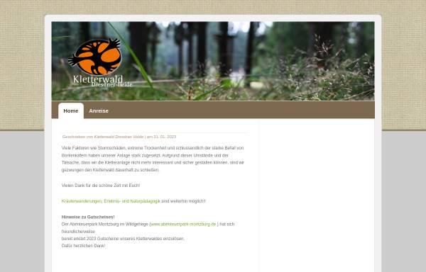 Vorschau von www.kletterwald-dresdner-heide.de, Kletterwald Dresdner Heide