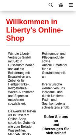 Vorschau der mobilen Webseite www.libertyshop.de, Liberty Vertriebs GmbH