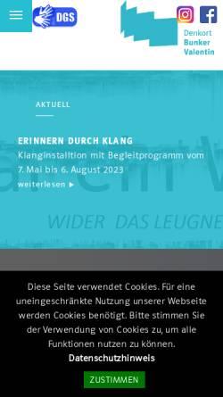Vorschau der mobilen Webseite www.denkort-bunker-valentin.de, U-Boot-Bunker Valentin
