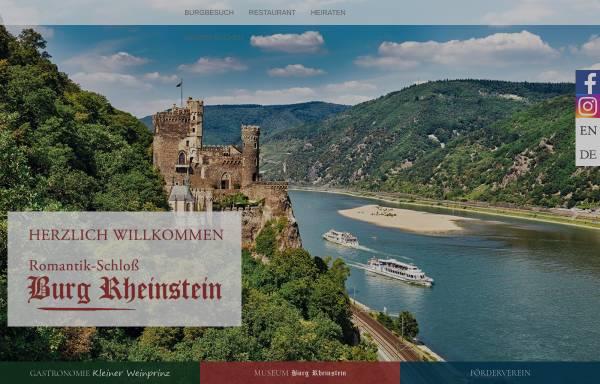 Vorschau von www.burg-rheinstein.de, Schloss Burg Rheinstein