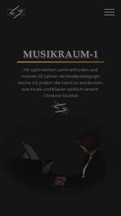 Vorschau der mobilen Webseite musikraum-1.de, Musikschule Raum Eins