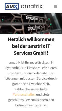 Vorschau der mobilen Webseite amx-it.de, amatrix IT Services GmbH