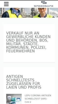 Vorschau der mobilen Webseite www.safeline-warnschutz.de, Safeline Jürgen Fleischhauer