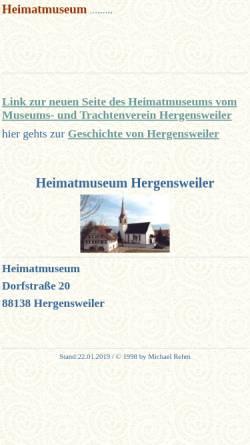 Vorschau der mobilen Webseite www.hergensweiler.info, Heimatmuseum Hergensweiler