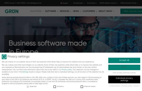 Vorschau von www.gruen.net, GRÜN Software AG
