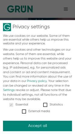 Vorschau der mobilen Webseite www.gruen.net, GRÜN Software AG