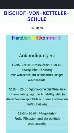 Vorschau der mobilen Webseite www.bischof-von-ketteler-schule.de, Bischof-von-Ketteler-Schule