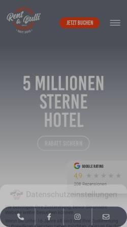 Vorschau der mobilen Webseite rent-a-bulli.de, Rent-a-Bulli