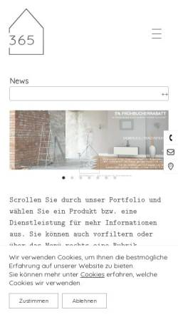 Vorschau der mobilen Webseite haus365.com, HAUS365.com