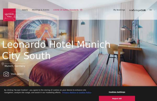 Vorschau von www.leonardo-hotels.com, Leonardo Hotel Munich City South