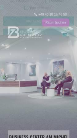 Vorschau der mobilen Webseite www.bz-businesscenter.com, Beraterzentrum Hamburg - Business Center