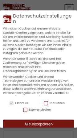 Vorschau der mobilen Webseite www.kaffeevollautomat-berater.de, Kaffeevollautomat-Berater