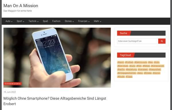 Vorschau von manonamission.de, ManOnAMission.de