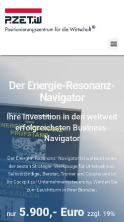 Vorschau der mobilen Webseite www.positionierungszentrum-hanau.de, Positionierungszentrum Hanau