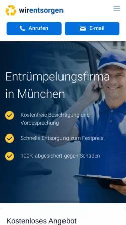 Vorschau der mobilen Webseite wirentsorgen.de, WirEntsorgen