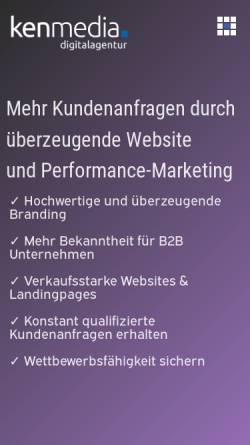 Vorschau der mobilen Webseite www.kenmedia.de, kenmedia Digitalagentur