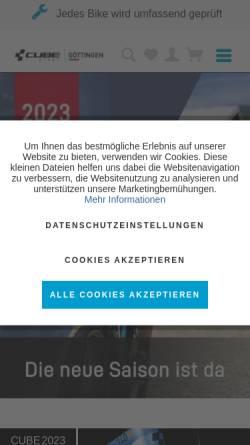 Vorschau der mobilen Webseite cube-store-goettingen.de, CUBE Store Göttingen