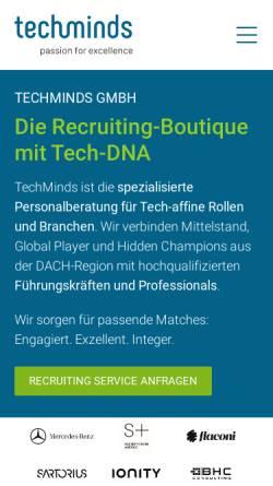 Vorschau der mobilen Webseite techminds.de, TechMinds