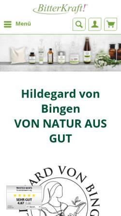 Vorschau der mobilen Webseite hildegard-spezialist.de, Gutsmiedl Produkte GmbH