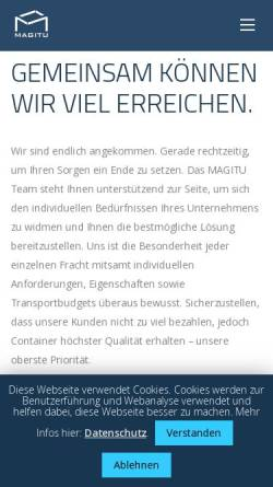 Vorschau der mobilen Webseite magitu.com, MAGITU GmbH