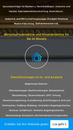 Vorschau der mobilen Webseite detektei-a-uslaub8.webnode.com, Detektei A. Uslaub