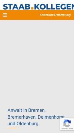 Vorschau der mobilen Webseite www.staab-collegen.de, Rechtsanwaltskanzlei Staab.Kollegen