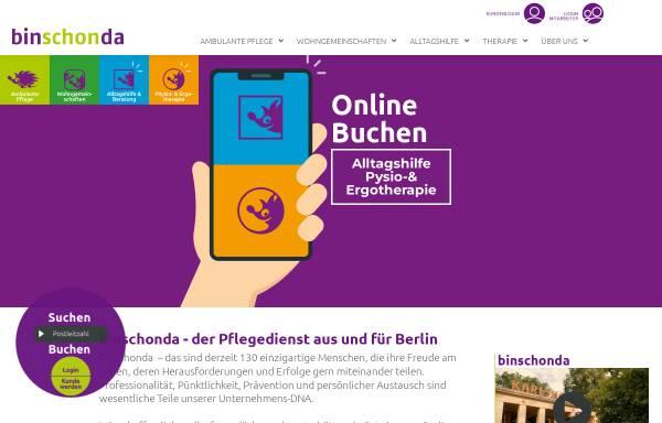 Vorschau von www.binschonda.de, binschonda
