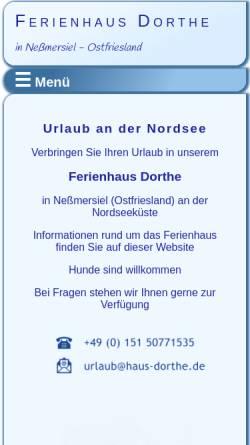 Vorschau der mobilen Webseite www.haus-dorthe.de, Haus Dorthe