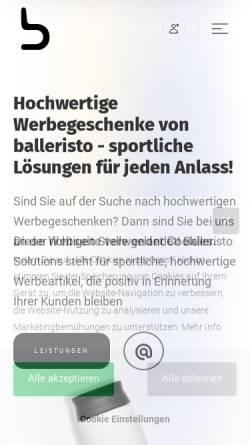 Vorschau der mobilen Webseite balleristo.solutions, BVD Deutschland GmbH