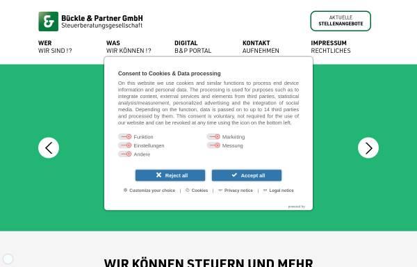 Vorschau von bp-gmbh.de, Bückle & Partner GmbH Steuerberatungsgesellschaft