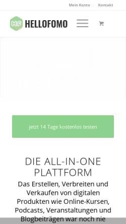Vorschau der mobilen Webseite hellofomo.de, RGC Manager GmbH und Co. KG