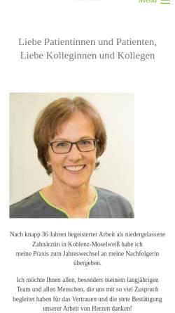 Vorschau der mobilen Webseite www.dr-matuschek-grohmann.de, Zahnarztpraxis Dr. med. dent. Matuschek-Grohmann