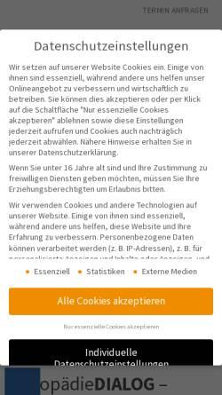 Vorschau der mobilen Webseite www.logopaedie-praxis-hannover.de, LogopädieDIALOG