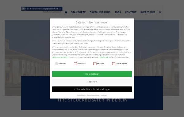 Vorschau von www.btb-steuerberatung.de, BTB Steuerberatungsgesellschaft mbH