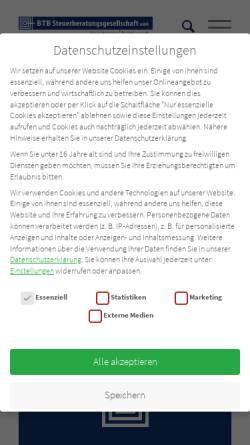 Vorschau der mobilen Webseite www.btb-steuerberatung.de, BTB Steuerberatungsgesellschaft mbH