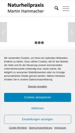 Vorschau der mobilen Webseite naturheilpraxis-hammacher.de, Heilpraktiker Martin Hammacher