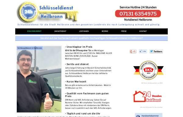 Vorschau von schluesseldienst-heilbronn-24.de, Schlüsseldienst Blum Heilbronn