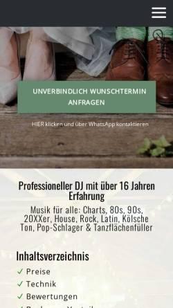Vorschau der mobilen Webseite www.guterdj.de, Event und Hochzeits DJ BEATPOET