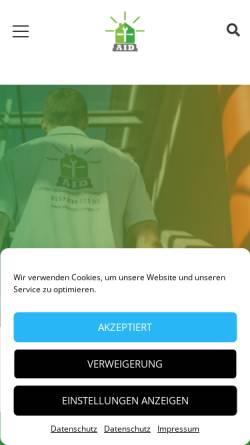 Vorschau der mobilen Webseite www.aidienstleistungen.de, AID Dienstleistungen