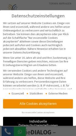 Vorschau der mobilen Webseite www.logopaedie-praxis-hannover.de, Logopädie DIALOG