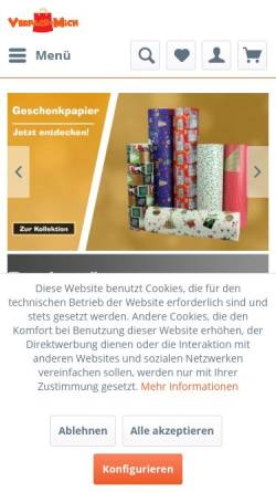 Vorschau der mobilen Webseite verpack-mich.de, Verpack-Mich