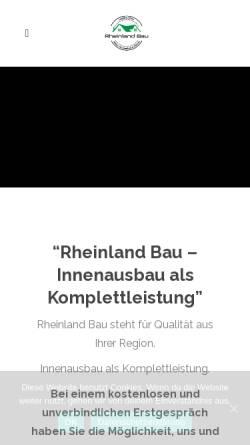 Vorschau der mobilen Webseite www.rheinland-bau.com, Rheinland Bau