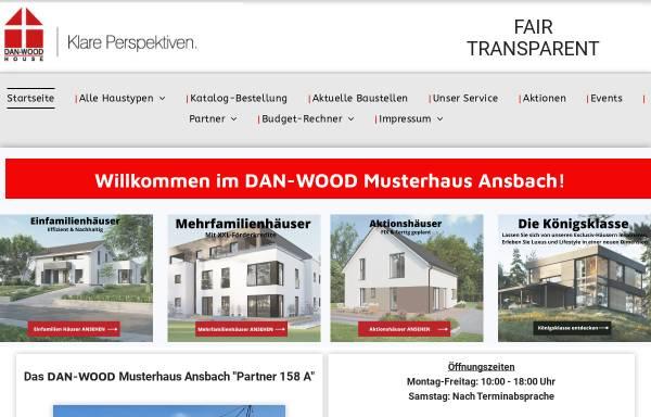 Vorschau von www.danwoodhaus.de, DAN-Wood Musterhaus Ansbach